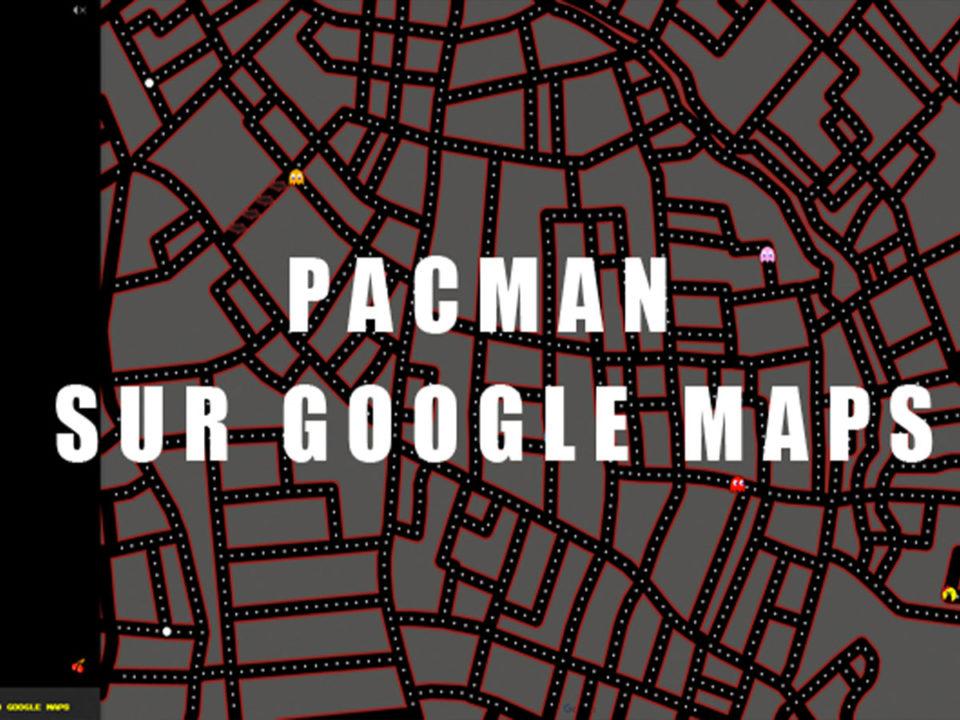 pacman sur google maps
