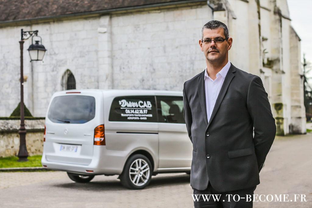 portrait driver cab