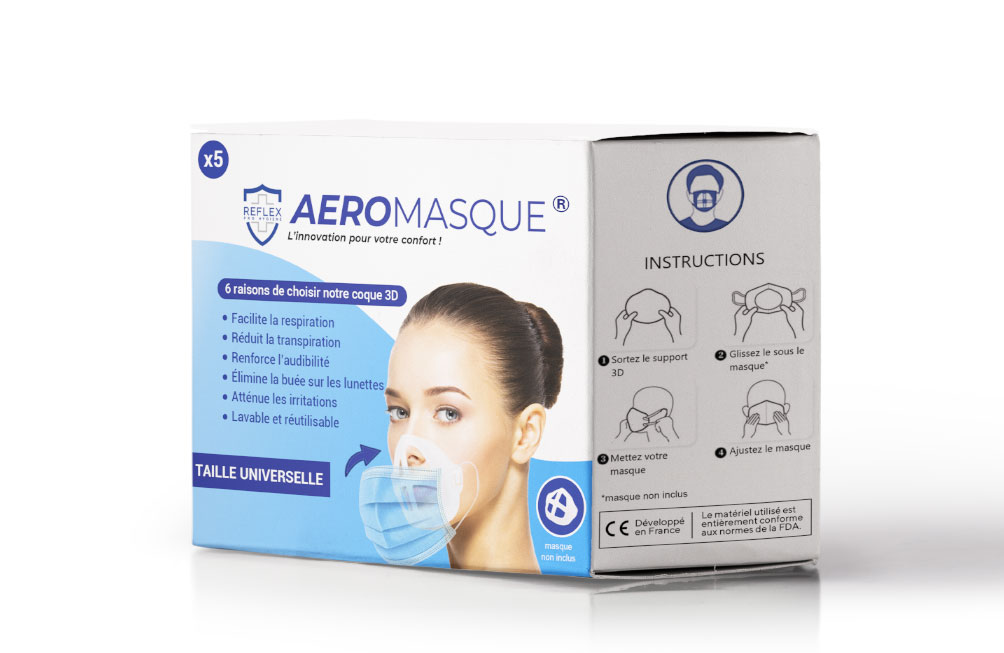 packaging aeromasque