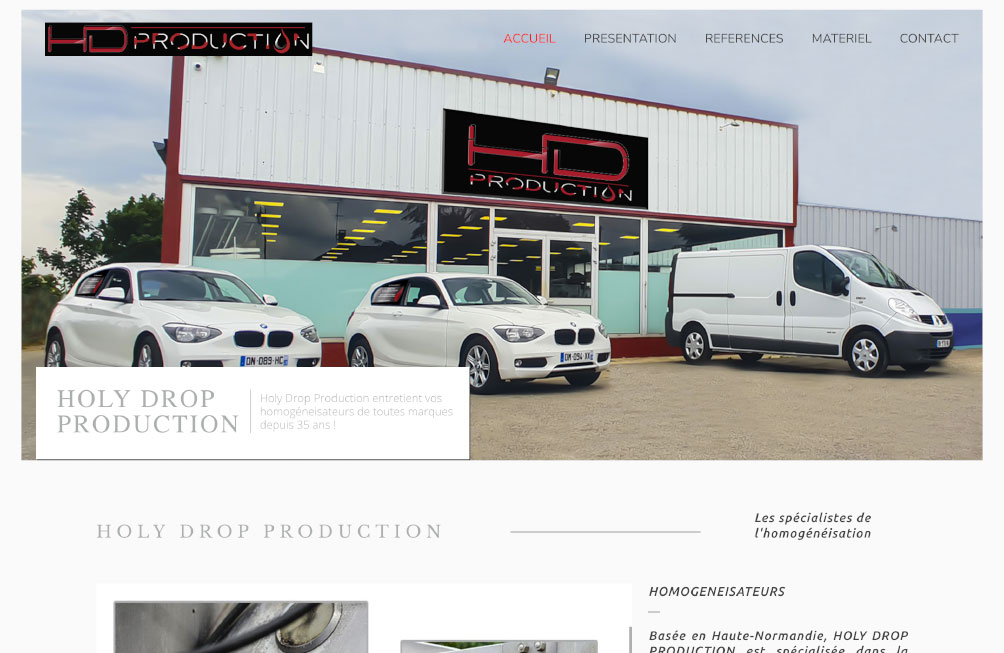 "Site vitrine ""Holy Drop Production"""