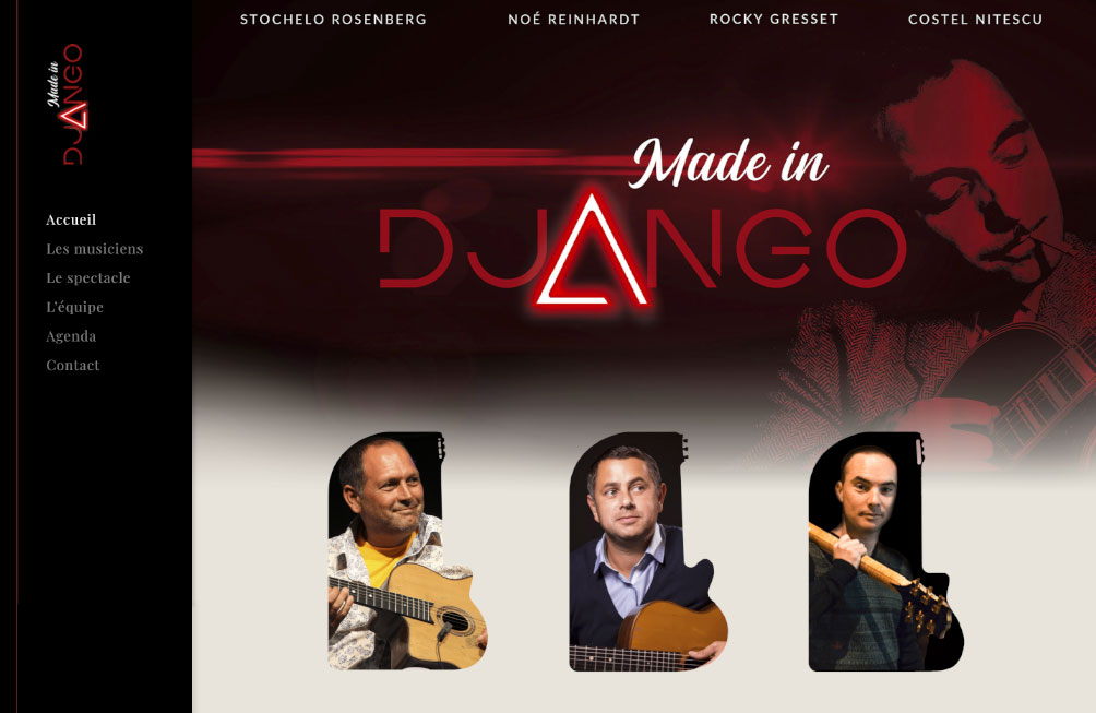 site internet made in django