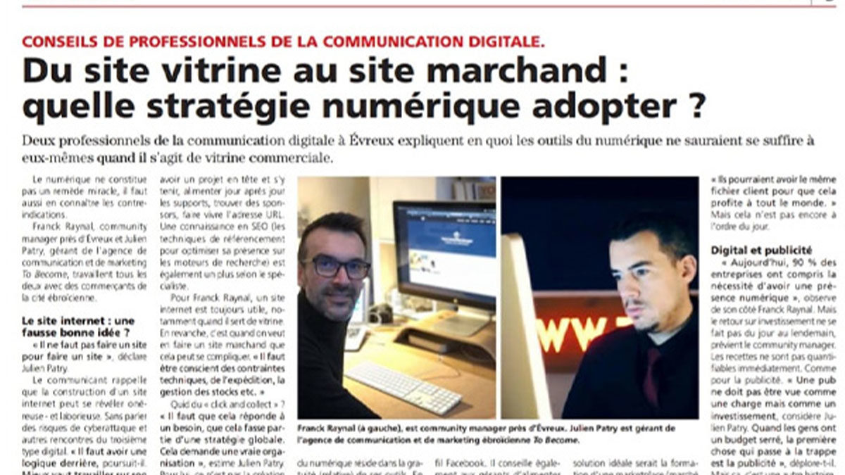 article sur l'agence to become