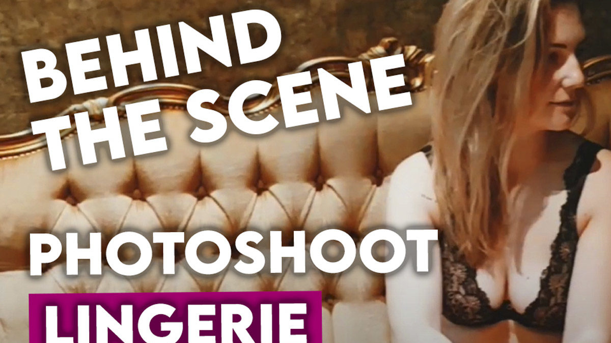 miniature youtube behind the scenes photoshoot lingerie